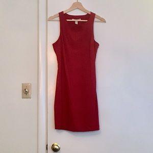 New Red Sheath Dress w/ Back Cutout Detail sz S